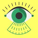 Stile piano dell'analizzatore dell'occhio di biometria prima dell'entrata Immagine Stock