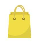 Stile piano dell'icona del sacchetto della spesa Sacchi di carta su un fondo bianco Pacchetto del regalo Illustrazione di vettore illustrazione di stock