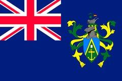 Stile piano delle Isole Pitcairn della bandiera Immagini Stock