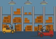 Stile piano di consegna del magazzino Immagini Stock Libere da Diritti