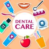 Stile piano di cure odontoiatriche Fotografie Stock Libere da Diritti