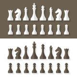 Stile piano di progettazione dei pezzi degli scacchi Fotografia Stock Libera da Diritti