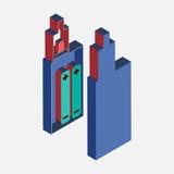 Stile piano isometrico di Vaping Fotografia Stock