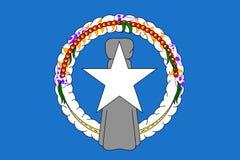 Stile piano nordico di Mariana Islands della bandiera Fotografie Stock Libere da Diritti