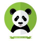 Stile piano Panda Bear Avatar Icon Elemento di disegno Fotografia Stock