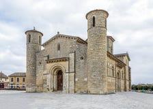 Stile romanico in Fromista, Palencia Fotografia Stock