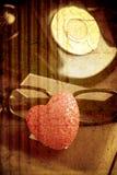 Stile rosso dell'annata e del cuore Immagine Stock Libera da Diritti