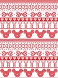 Stile scandinavo del tessuto di Buon Natale senza cuciture, ispirato dal Natale norvegese, modello festivo di inverno in punto tr Immagine Stock Libera da Diritti