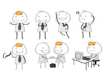 Stile semplice dell'uomo d'affari di vettore Immagini Stock