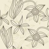 Stile senza giunte floreale dell'annata del reticolo nel vettore Fotografia Stock