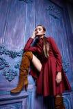 Stile sexy di modo del partito dell'attività di raccolta del vestito di vestito dalla donna Immagine Stock Libera da Diritti