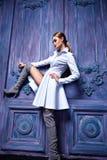 Stile sexy di modo del partito dell'attività di raccolta del vestito di vestito dalla donna Immagini Stock