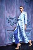 Stile sexy di modo del partito dell'attività di raccolta del vestito di vestito dalla donna Immagine Stock