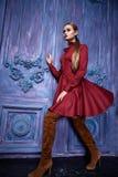 Stile sexy di modo del partito dell'attività di raccolta del vestito di vestito dalla donna Fotografia Stock Libera da Diritti