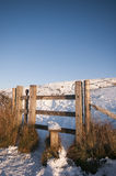Stile in the snow Royalty Free Stock Images