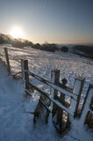 Stile in the snow Stock Photos