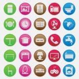 Stile stabilito di pendenza dell'icona della mobilia Fotografia Stock