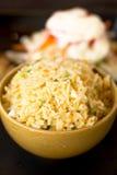 Stile tailandese degli alimenti del riso fritto Fotografia Stock