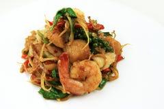 Stile tailandese dei frutti di mare del curry dei peperoncini rossi Fotografia Stock Libera da Diritti