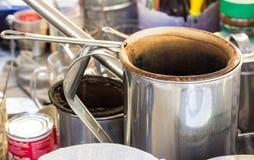 Stile tailandese del caffè Fotografia Stock
