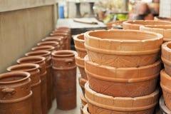 Stile tailandese del contenitore delle terraglie Immagini Stock