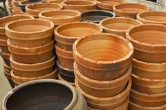 Stile tailandese del contenitore delle terraglie Fotografia Stock