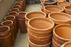 Stile tailandese del contenitore delle terraglie Fotografie Stock