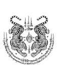 Stile tailandese del tatuaggio illustrazione vettoriale