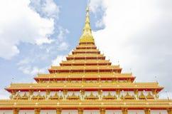 Stile tailandese del tempiale in Khon Kaen Tailandia Fotografie Stock