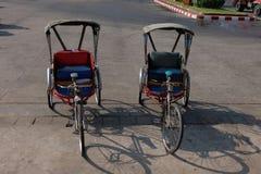 Stile tailandese del triciclo Fotografia Stock Libera da Diritti