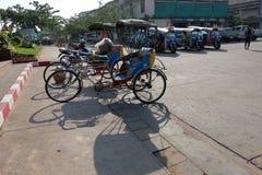 Stile tailandese del triciclo Fotografie Stock Libere da Diritti