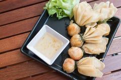 Stile tailandese dell'alimento: & x22; Borsa dei soldi o borsa di gold& x22; Arte tailandese tradizionale Fotografie Stock Libere da Diritti