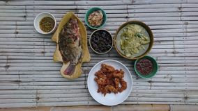 Stile tailandese dell'alimento di lanna fotografia stock