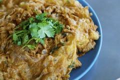 Stile tailandese dell'omelette Fotografie Stock Libere da Diritti