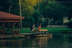 Stile tailandese della casa galleggiante tradizionale Immagine Stock Libera da Diritti