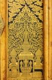 Stile tailandese della pittura di tradizione fotografia stock