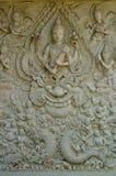 Stile tailandese della scultura della parete Fotografie Stock