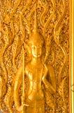 Stile tailandese di arte sul portello Tailandia Fotografia Stock Libera da Diritti