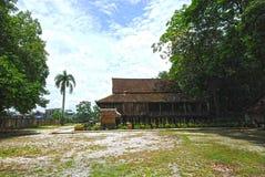 Stile tailandese di legno fotografia stock