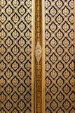 Stile tailandese ingenuo di lacca nera dorata Fotografia Stock