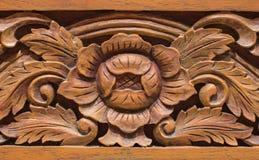 Stile tailandese scolpito di legno Fotografia Stock