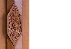 Stile tailandese scolpito di legno fotografia stock libera da diritti
