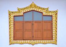 Stile tailandese tradizionale della pagina fotografie stock