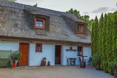 Stile tradizionale ungherese di architettura nel villaggio Tihany Fotografia Stock Libera da Diritti