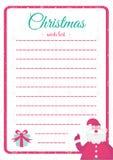 Stile variopinto del modello della lista di obiettivi di Natale di Vecor Illustrazione Vettoriale