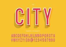 Stile variopinto di tipografia moderna di carattere 3d della città royalty illustrazione gratis