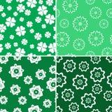 Stile verde del modello quattro della natura Fotografia Stock Libera da Diritti