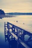 Stile vuoto di Instagram del molo Immagini Stock