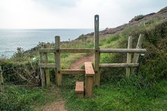 Stile on the way to coverack Stock Photography