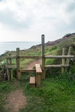 Stile on the way to coverack Stock Photos